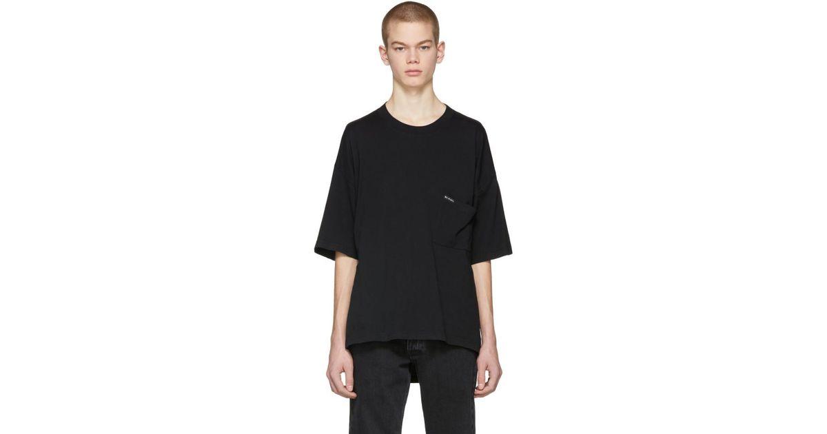 836ba3356f46 Balenciaga Black Oversized Droopy T-shirt in Black for Men - Lyst
