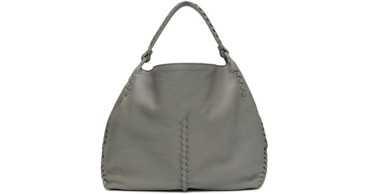 1f3ae9c57695 Lyst - Bottega Veneta Grey Oversized Hobo Bag in Gray
