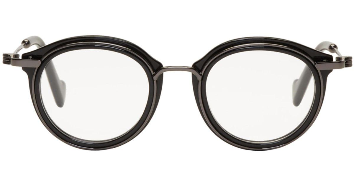 bonne vente prix officiel bon marché Lunettes noires et gris acier ML5007 Moncler pour homme en coloris Black
