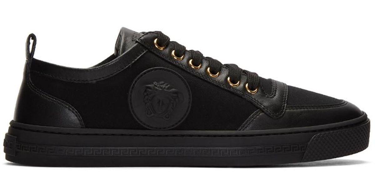 Black Medusa Head Sneakers Versace ppSd5Wwu