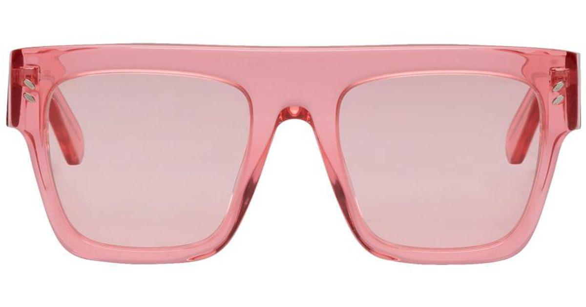 9f76855d15 Lunettes de soleil roses Icy Ice Flat Top Stella McCartney pour homme en  coloris Rose - Lyst