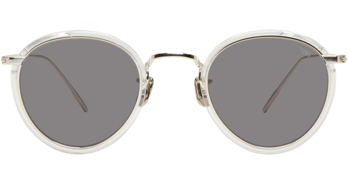 e672d9f94c Eyevan 7285 Silver And Black Model 717 Sunglasses in Metallic - Lyst