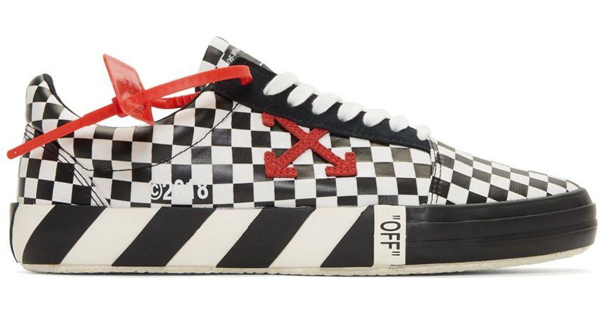 d91c1272193d Lyst - Off-White c o Virgil Abloh Black And White Check Vulc Sneakers in  Black for Men