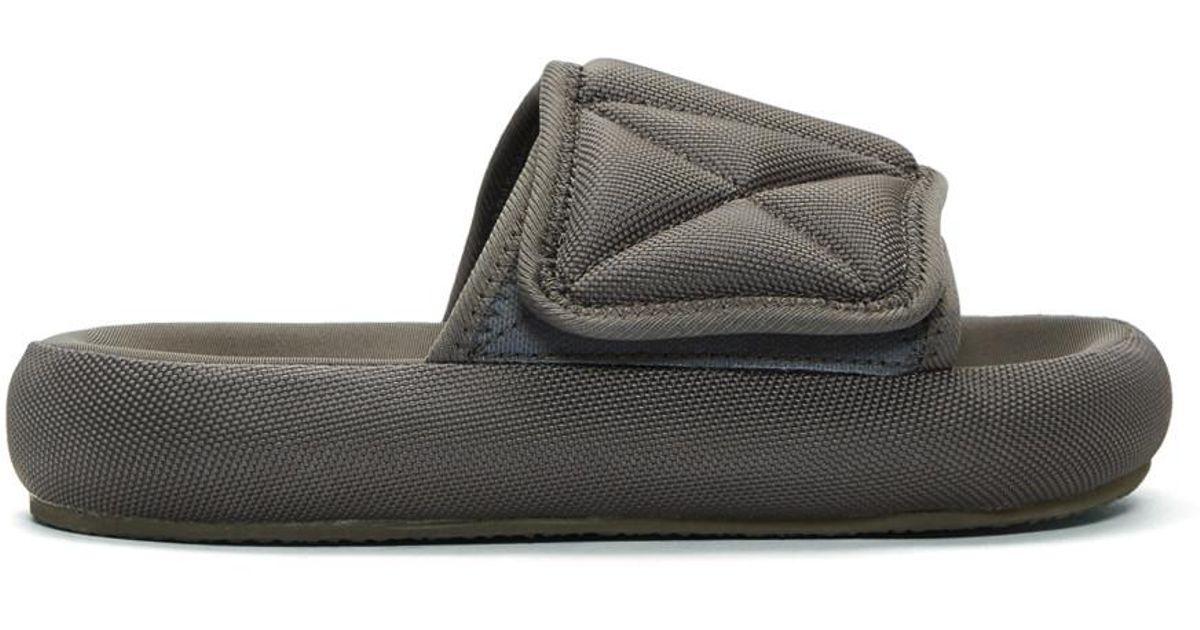 0d5c6f9f1eb Lyst - Yeezy Grey Nylon Slipper Sandals in Gray for Men