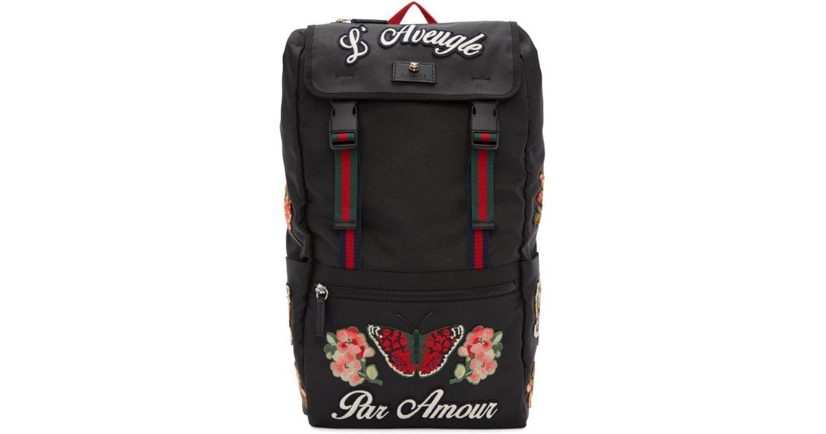 Lyst - Sac a dos noir LAveugle Par Amour Techpack Gucci pour homme en  coloris Noir 22af5726534