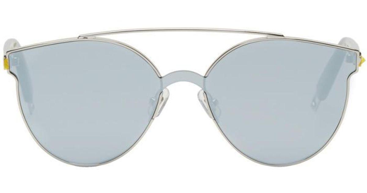 ccccf696180 Gentle Monster Silver Tilda Swinton Edition  trick Of The Light  Sunglasses  in Metallic - Lyst