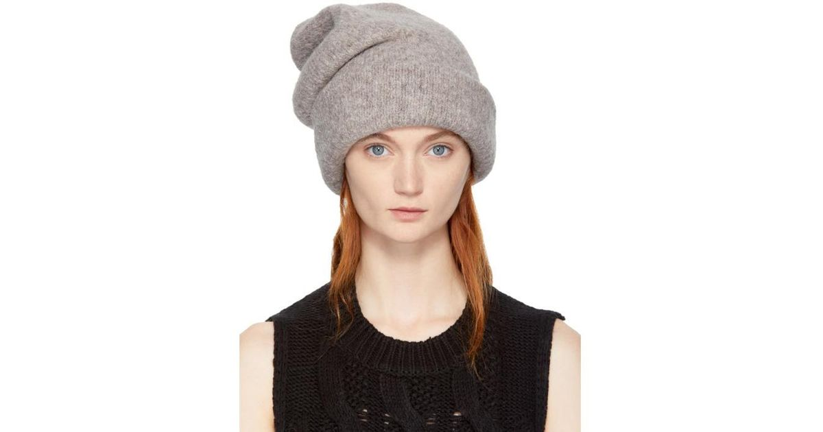 8678924d17058 Lauren Manoogian Grey Alpaca Carpenter Beanie in Gray - Lyst