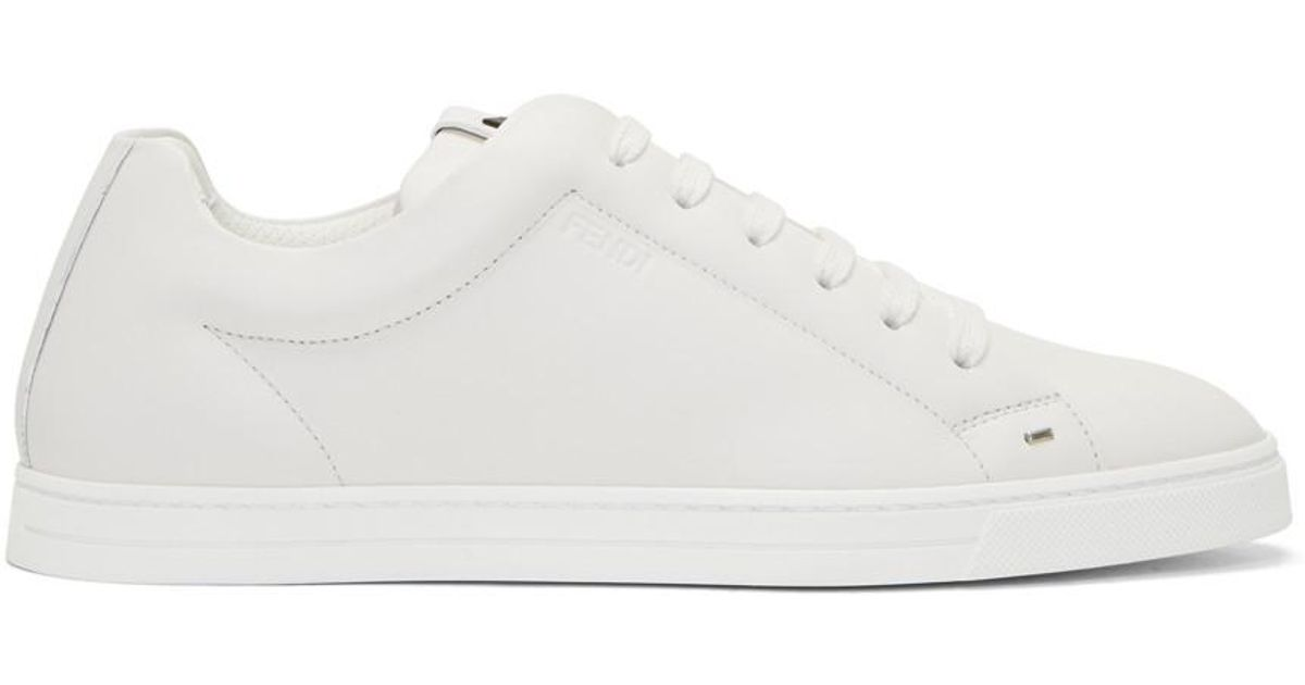 White Micro Bag Bugs Sneakers Fendi q7GgrYRGv