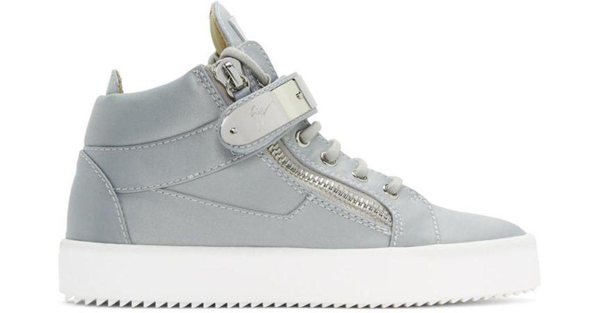 Giuseppe Zanotti Grey & May London High-Top Sneakers nTvGWBm