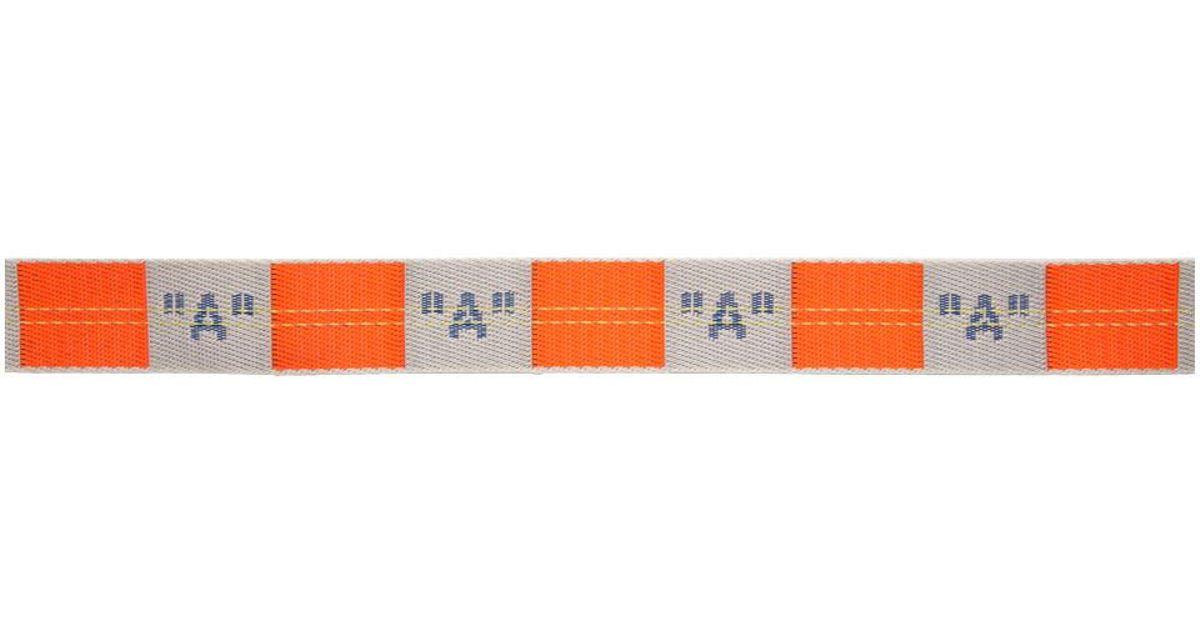 Lyst - Ceinture orange et grise A Industrial Off-White c o Virgil Abloh  pour homme en coloris Rouge dc01ea6e925
