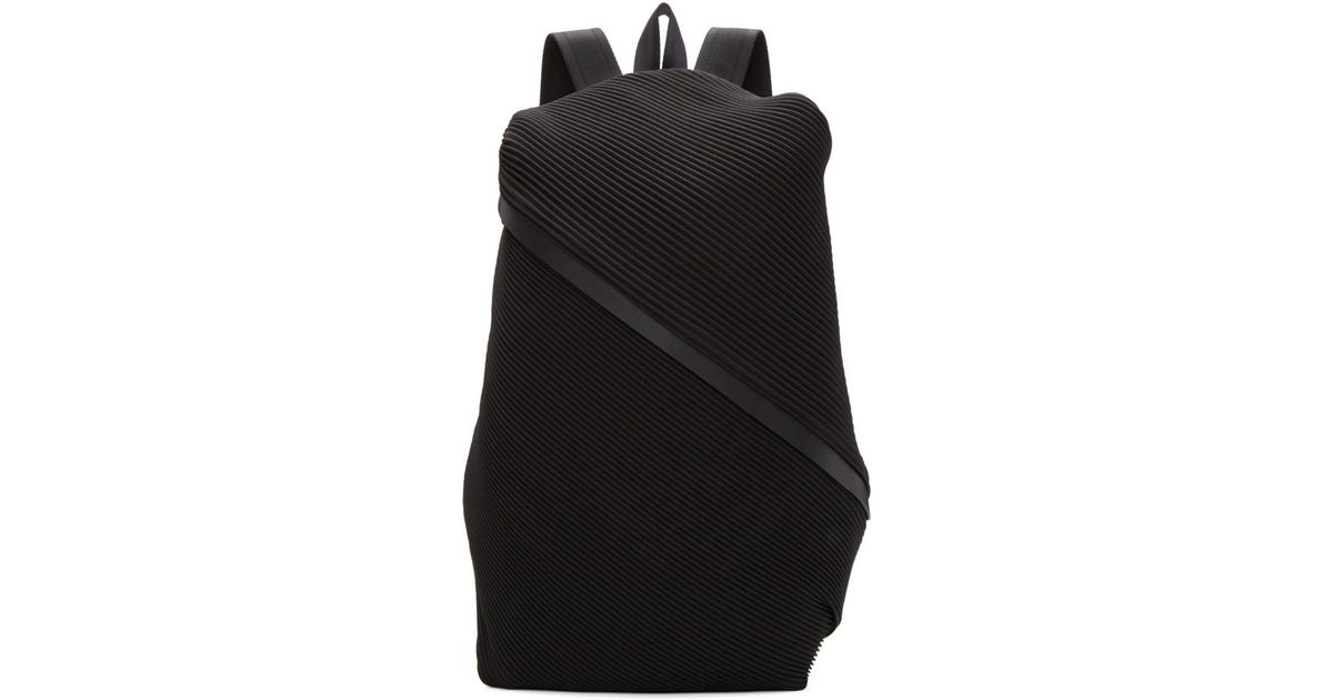 a4fb5b8f97 Lyst - Pleats Please Issey Miyake Black June Bias Pleats Backpack in Black
