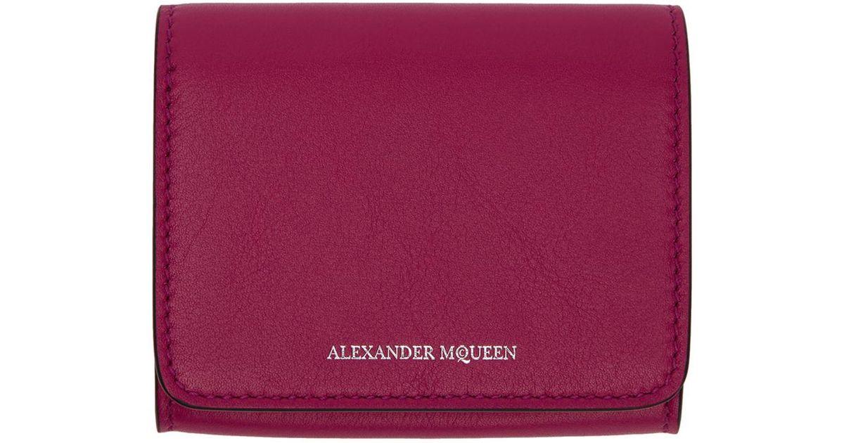 Lyst - Alexander Mcqueen Pink Fold Over Business Card Holder