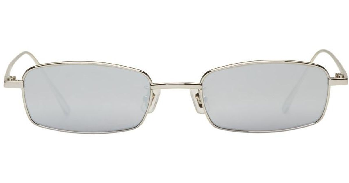 60607ae1a65c6 Gentle Monster Silver And Grey Palabra Sunglasses in Metallic for Men - Lyst