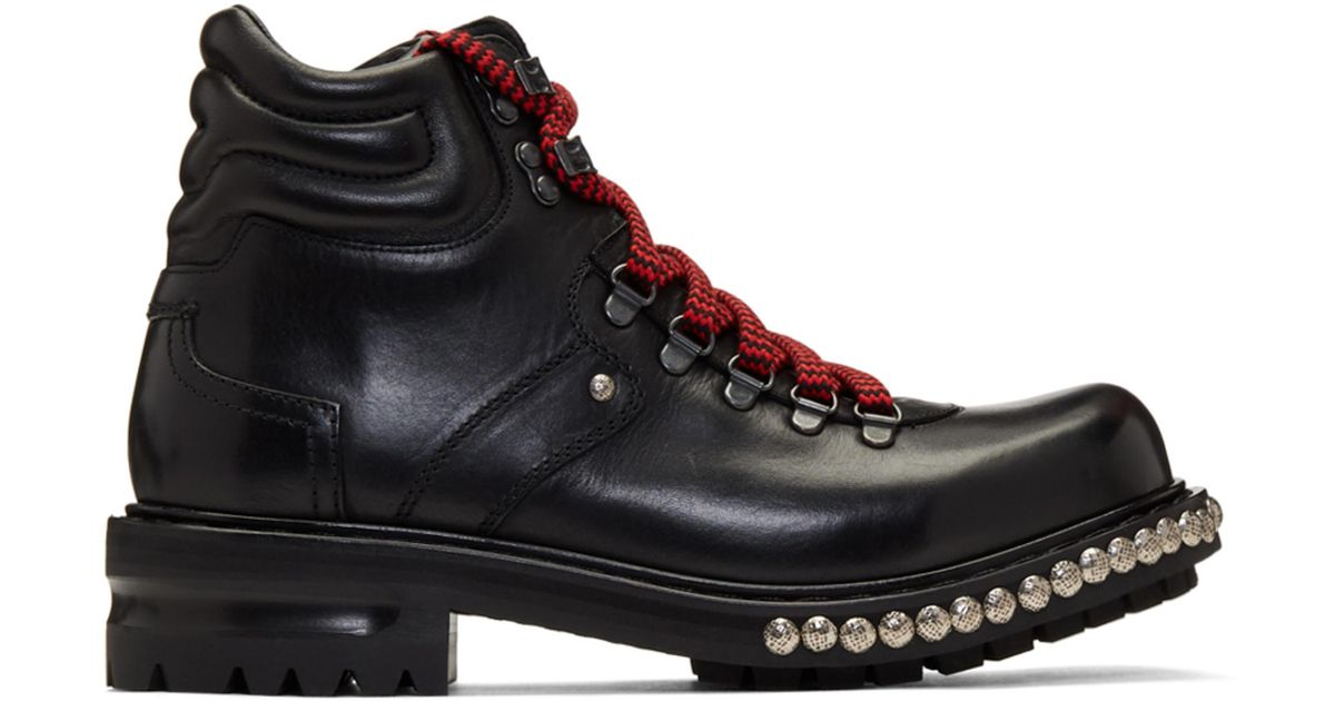 Alexander McQueen studded hiking boots for sale online store z8Hh6D495