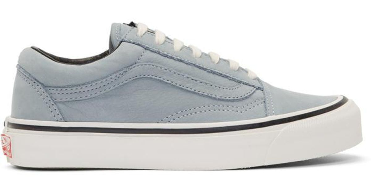 Blue Nubuck OG Old Skool LX Sneakers Vans