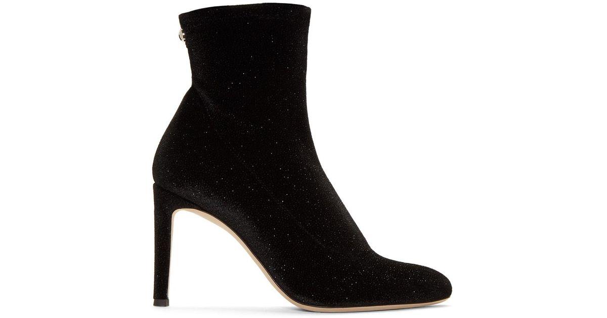 Giuseppe Zanotti Stretch fabric boot with chunky heel MAIDA nnaq2QBG