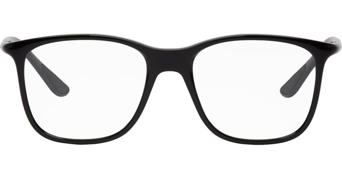 fb0ab238dfe Ray-Ban Black Square Glasses in Black for Men - Lyst