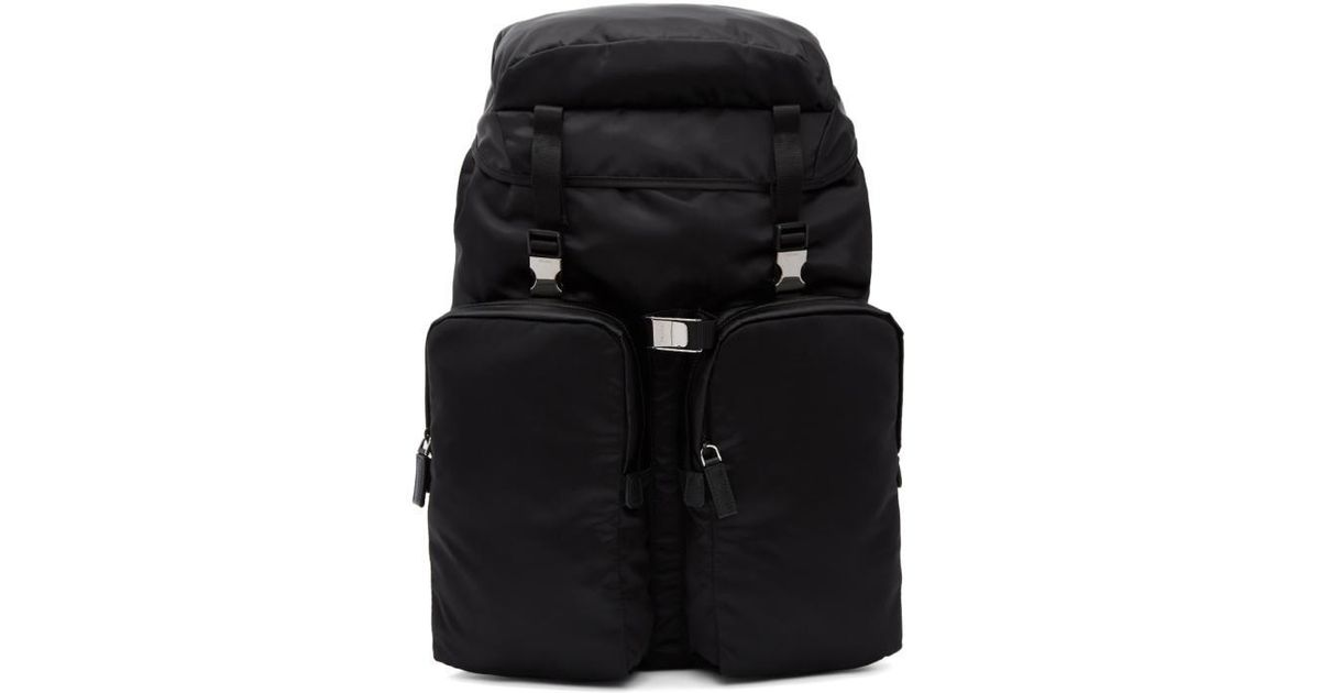 6bd4b56a7911 Lyst - Prada Black Nylon Utility Backpack in Black for Men