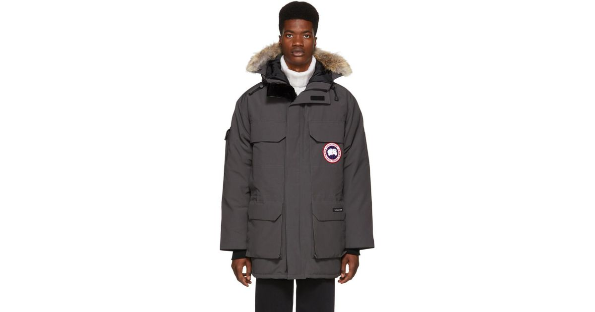 7eefaea6ae11 Lyst - Canada Goose Grey Down Expedition Parka in Gray for Men
