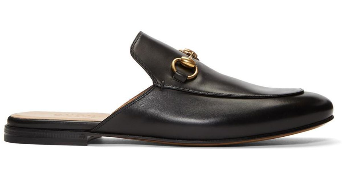 b2284b8ad Gucci Black Kings Slip-on Loafers in Black for Men - Lyst