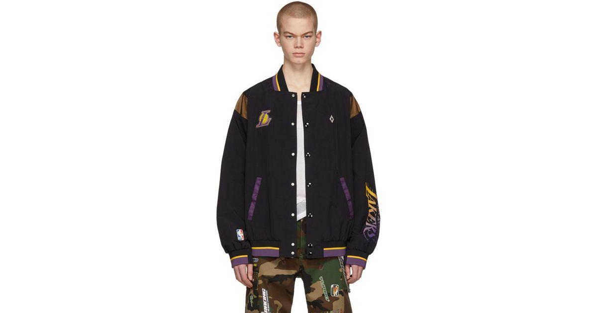 475b169422e Lyst - Marcelo Burlon Black Nba Edition La Lakers Jacket in Black for Men