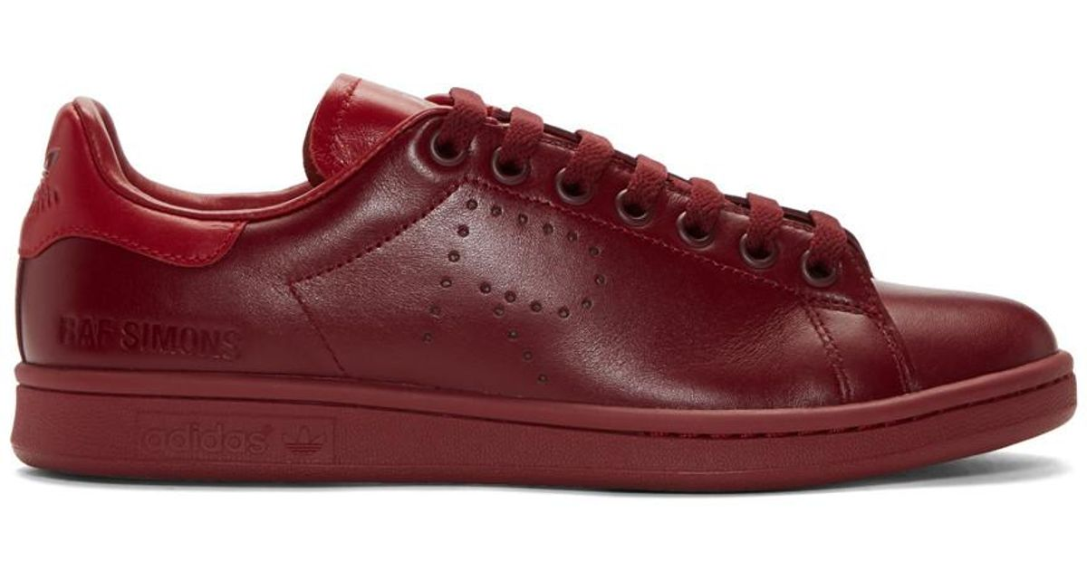 Red adidas Originals Edition Stan Smith Sneakers Raf Simons Low Cost For Sale NMzXC