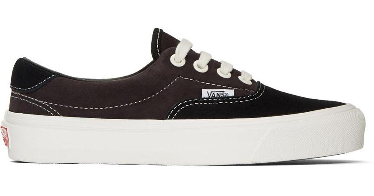 a0f2099bc795 Lyst - Vans Black And Brown Suede Og Era 59 Lx Sneakers in Black