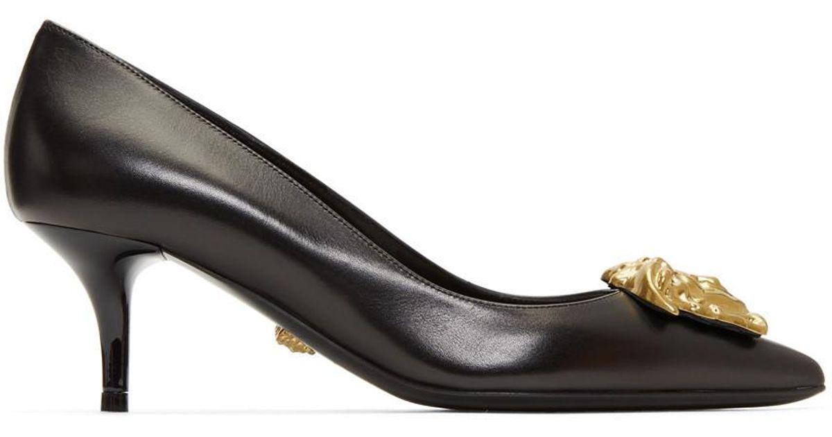 Black Medusa Tribute Kitten Heels Versace iBW9pCXwv