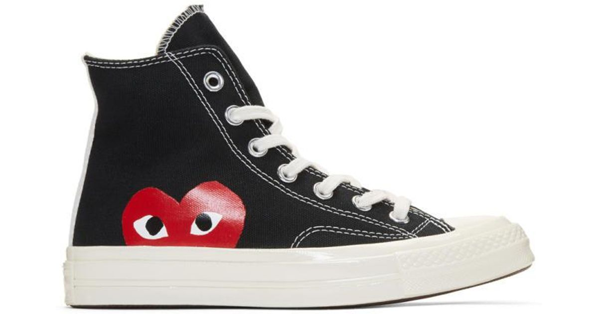 701417cee4dc Play Comme des Garçons Black Converse Edition Chuck Taylor All-star  70 High -top Sneakers in Black - Lyst
