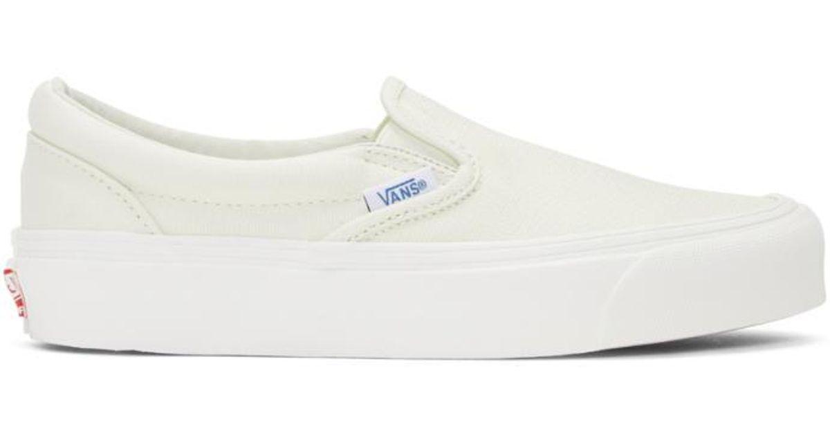 a4c1033ebf6171 Vans Off-white Og Classic Lx Slip-on Sneakers in White - Lyst