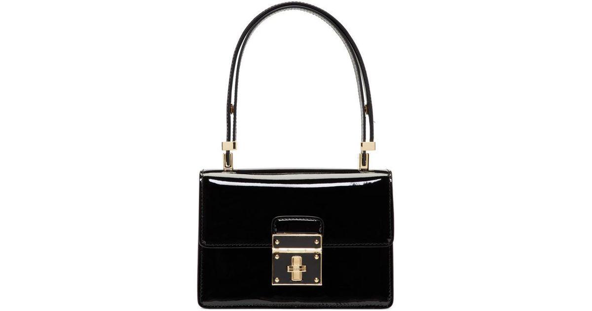 ebba6356b8 Lyst - Dolce   Gabbana Black Mini Flap Lock Bag in Black