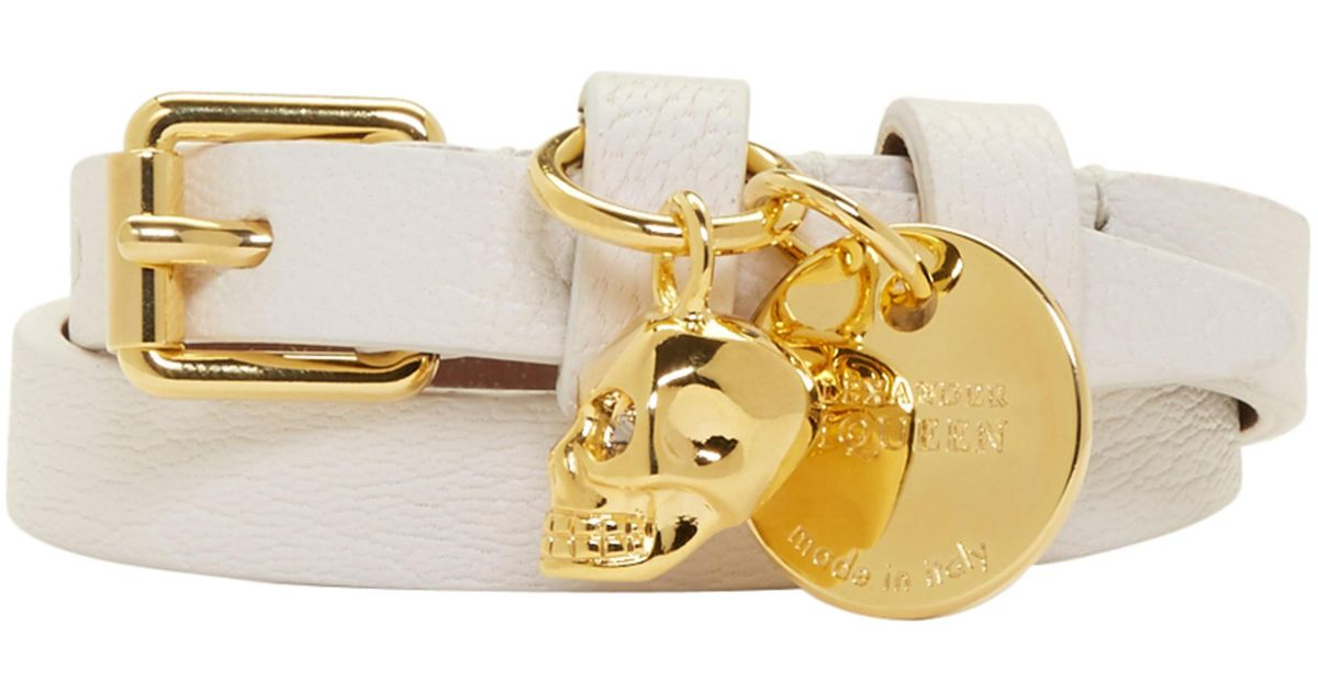 Off-White and Gold Skull Double Wrap Bracelet Alexander McQueen Clearance Pre Order Clearance Looking For Buy Cheap Countdown Package iYtXUGRXWk