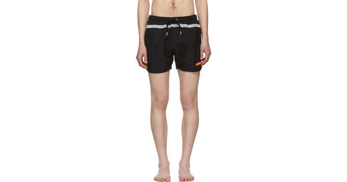 2f71a5e7a4b1 Heron Preston - Black Reflective Stripe Swim Shorts for Men - Lyst