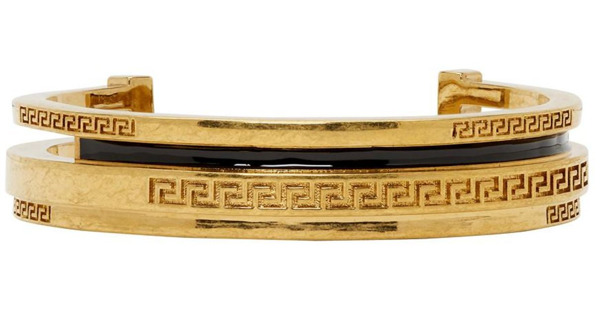 Lyst Versace Gold Greek Cuff Bracelet In Metallic For Men Save 15 838509316770185
