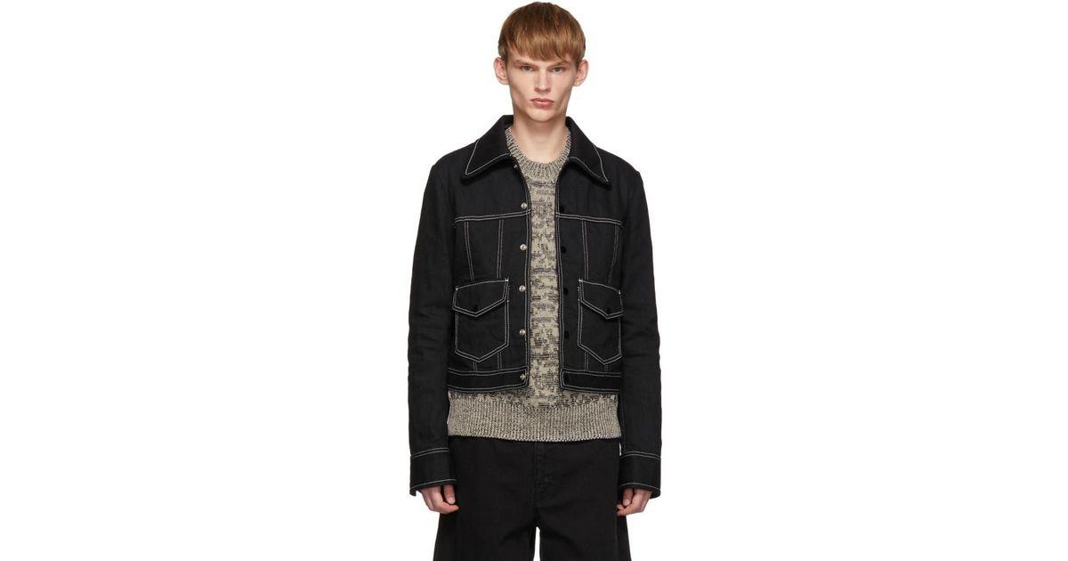 9823548dc0c4 Lyst - Maison Margiela Black Denim Raw Resin Jacket in Black for Men