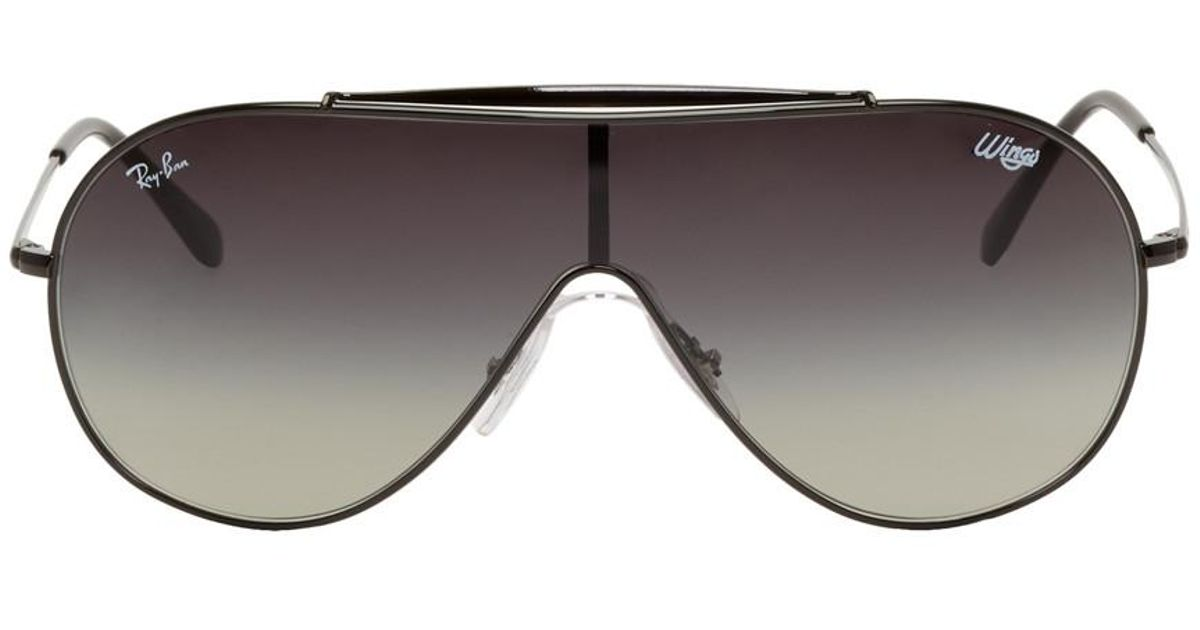 e9d49bb2c38 Lyst - Ray-Ban Black And Grey Pilot Wings Sunglasses in Black for Men