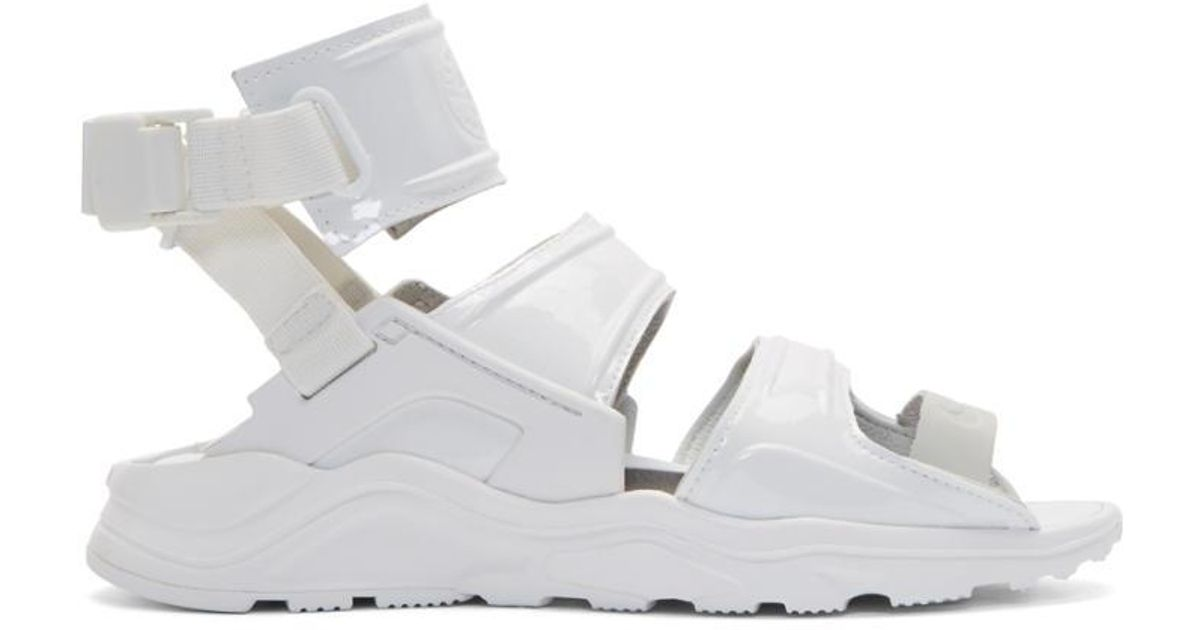 9a5a25328 ... Nike White Air Huarache Gladiator Sandals in White - Lyst ...