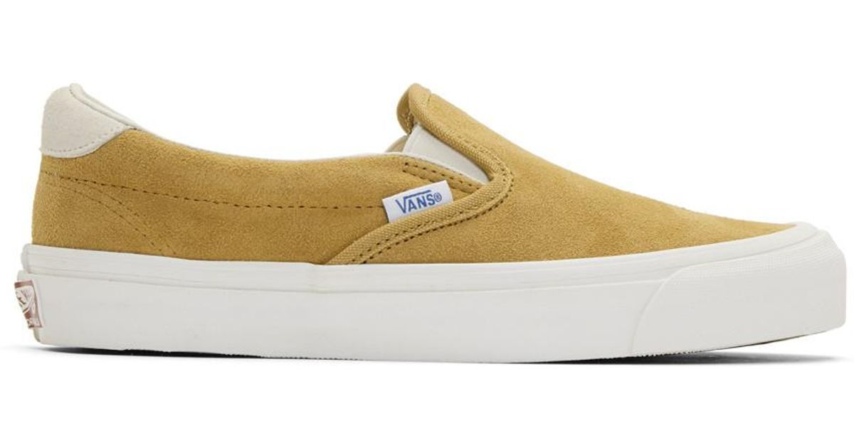 1e73f4c484 Lyst - Vans Yellow Suede Og 59 Lx Slip-on Sneakers in Yellow for Men