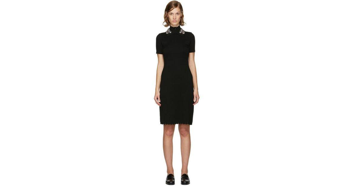 Black dress with jewelled collar