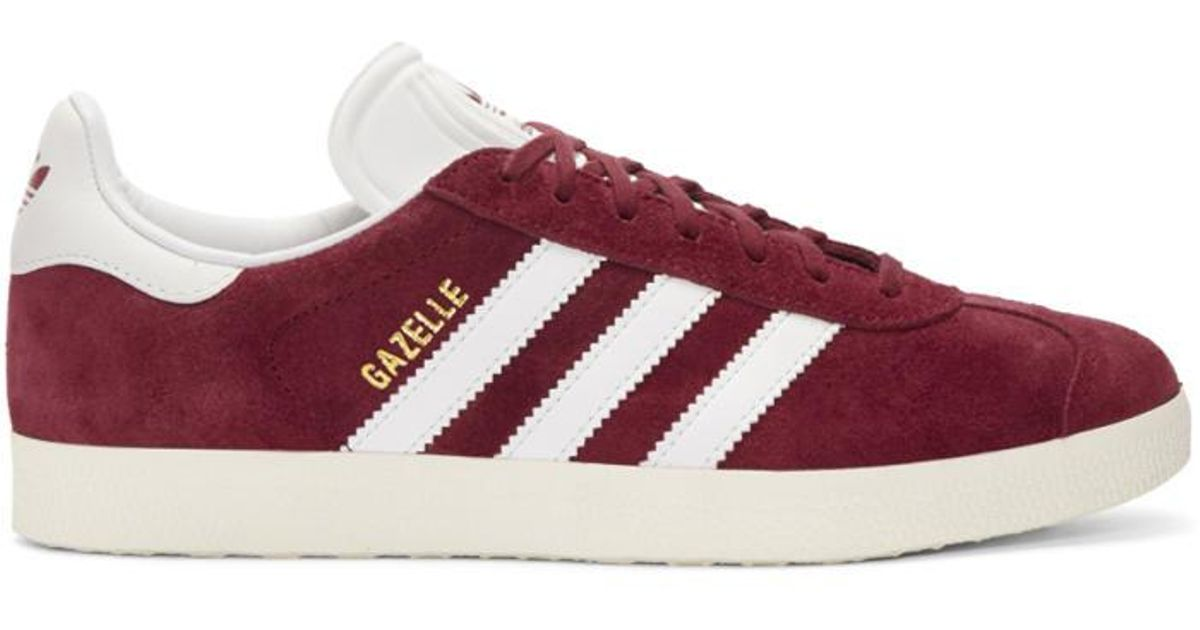 fa4a30375ab adidas Originals Burgundy Og Vintage Gazelle Sneakers for Men - Lyst