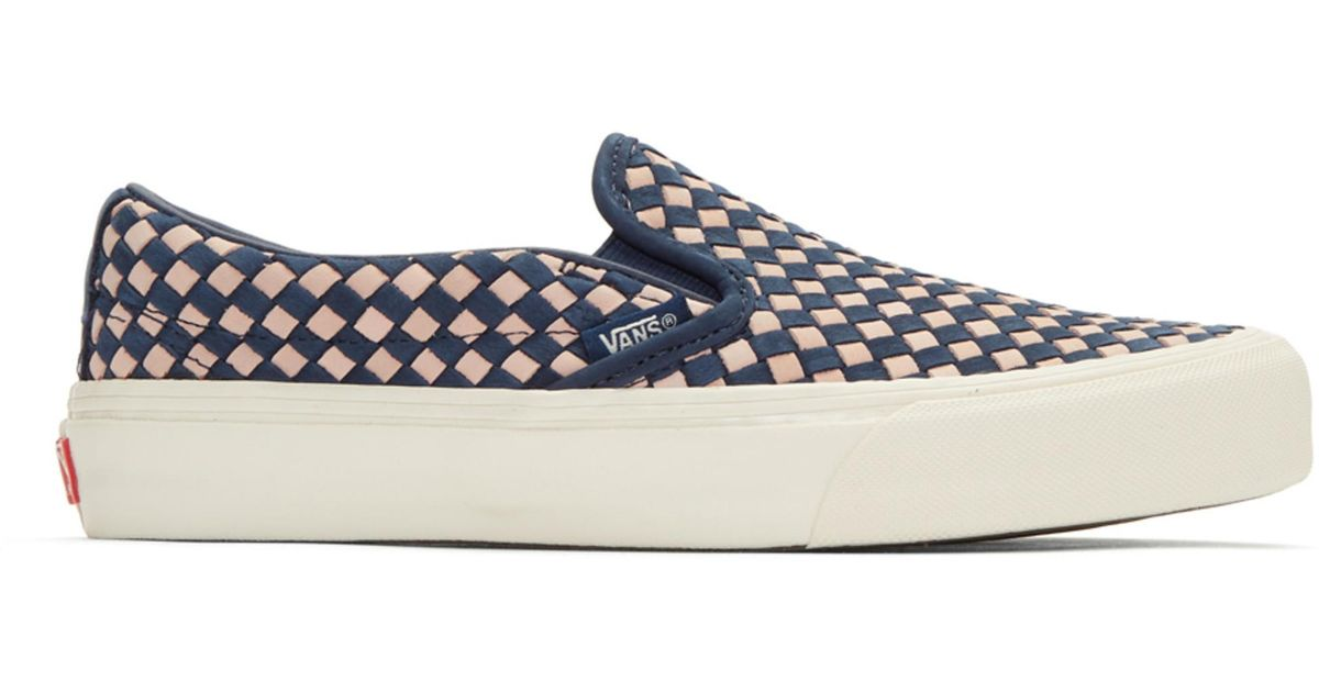 Vans Navy & Pink Taka Hayashi Edition Slip-On 66 LX Sneakers jdQoT9KH1