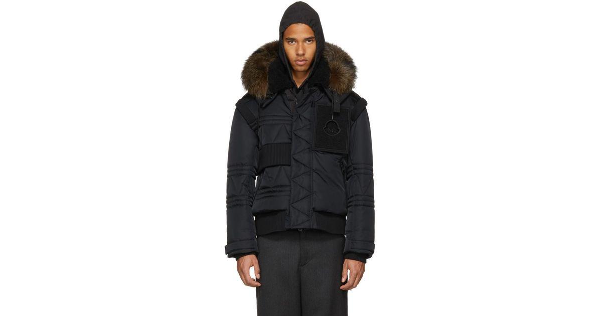 dfc08e63a6ea Moncler - Black Down Connor Jacket for Men - Lyst