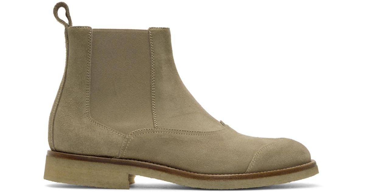 Belstaff Tan Suede Ladbroke Boots F70LAn