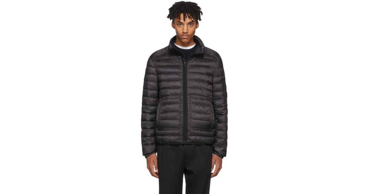 Lyst - Prada Black Lightweight Down Hooded Puffer Jacket in Black for Men 0378401fa249
