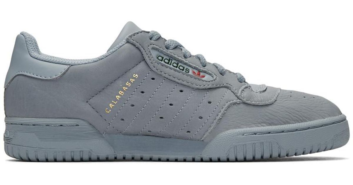 98ece5cc68036 Lyst - Yeezy Grey Powerphase Sneakers in Gray