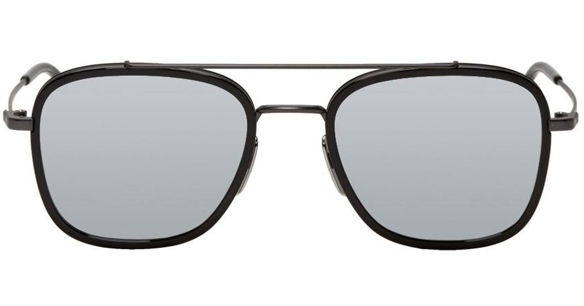 b9ee0b573450 Lyst - Thom Browne Black And Grey Tb-800 Sunglasses for Men