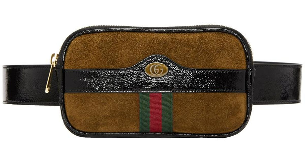 6458d44a32b0 Gucci Brown Small Suede Ophidia Belt Bag in Brown for Men - Lyst
