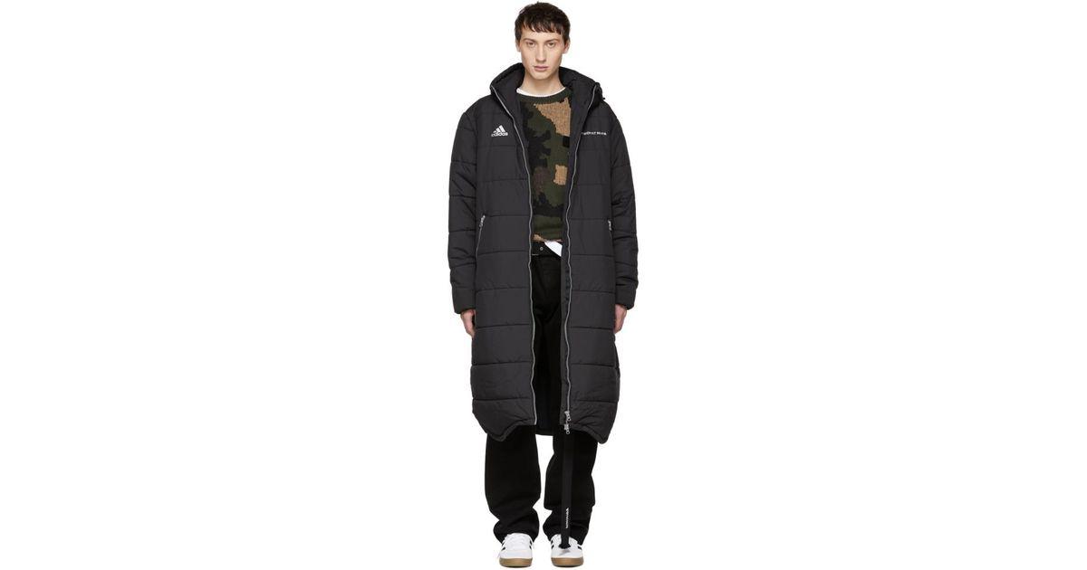 3f84db143ea5 Gosha Rubchinskiy Black Adidas Originals Edition Long Puffer Jacket in Black  for Men - Lyst