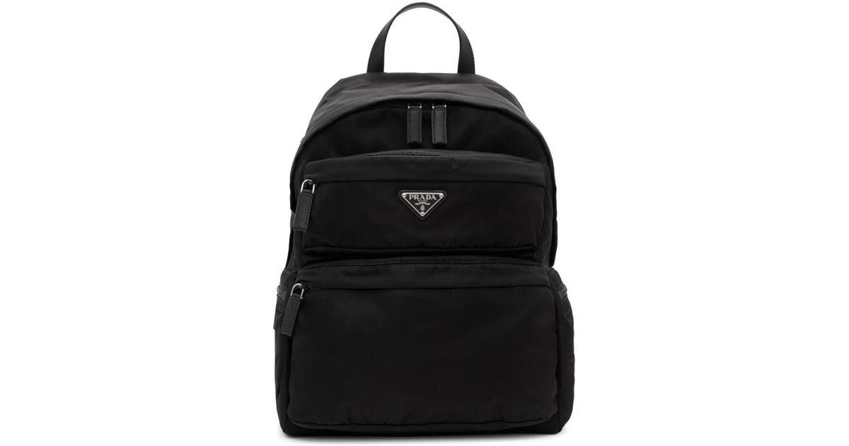 b29a4946dff0 Prada Black Montagna Backpack in Black for Men - Lyst