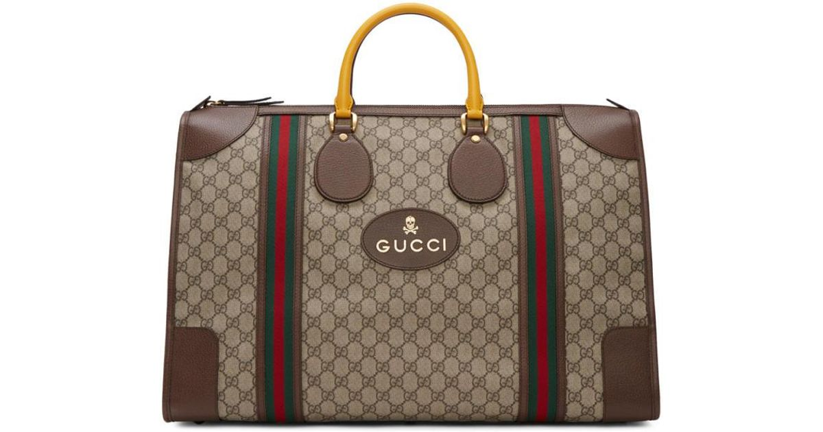 727df3a3b60 Lyst - Gucci Beige Neo Vintage Duffle Bag in Natural for Men